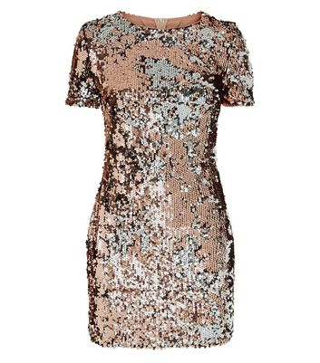 Parisian Gold Sequin Bodycon Dress New Look