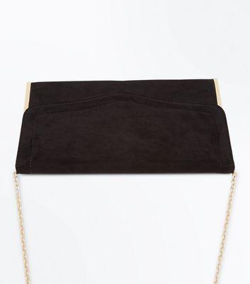 Black Flat Clutch Bag New Look