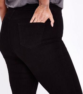 Curves Black High Waist Super Skinny Jeans New Look