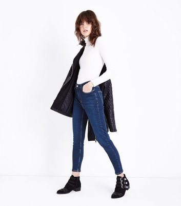 Dark Blue High Rise Super Skinny Dahlia Jeans
