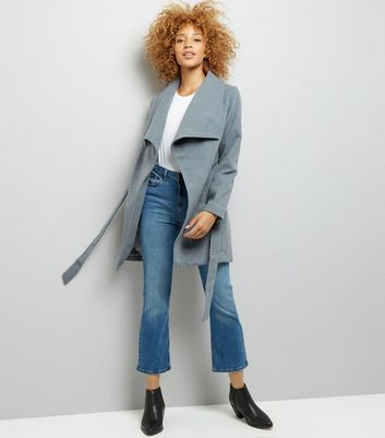 Parisian Grey Wrap Jacket New Look