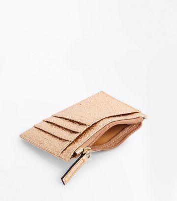 Gold Textured Zip Top Cardholder New Look
