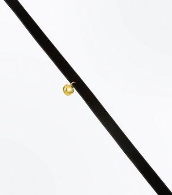 Black Velvet Bell Choker New Look