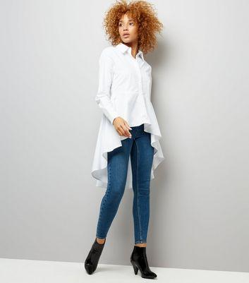 Cameo Rose White Dip Hem Shirt New Look