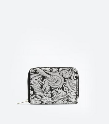 Gold Floral Purse New Look