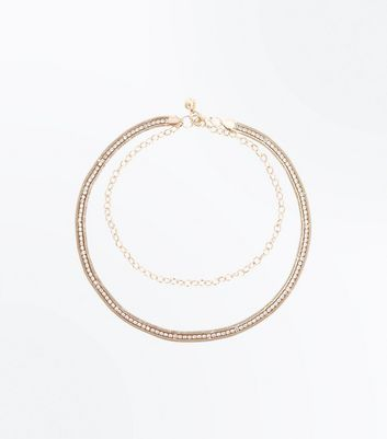 Gold Diamante Embellished Chain Belt New Look