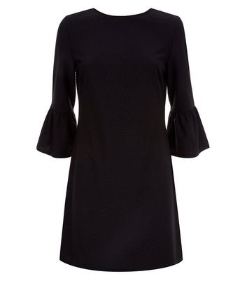 Black Bell Sleeve Jersey Tunic Dress New Look