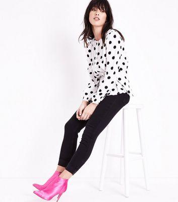 Black Turn Up Hem Skinny Jenna Jeans New Look