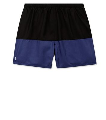 Navy Contrast Running Shorts New Look