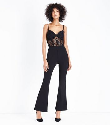 Black Lace Bodysuit New Look