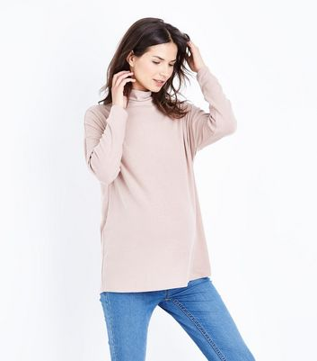 Maternity Mink Cowl Neck Brushed Top New Look