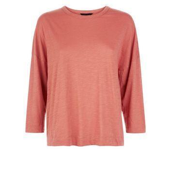Rust Batwing Sleeve T-Shirt New Look