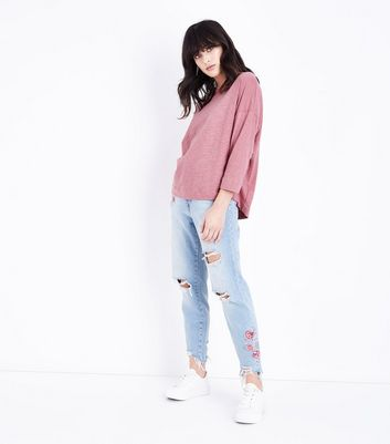 Pink Batwing Sleeve T-Shirt New Look