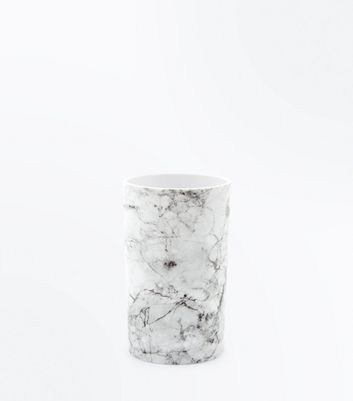 White Marble Pot New Look