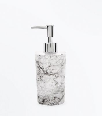 White Marble Soap Dispenser New Look