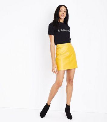 Black L'Amour Rhinestone T-Shirt New Look