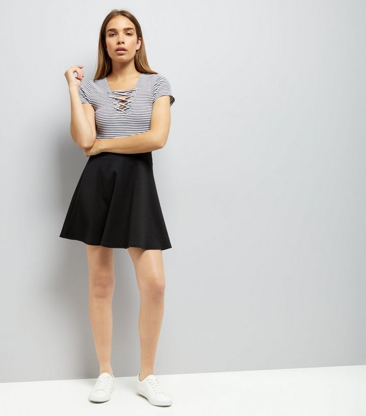 b8db6f3aa9 Home · Black Mini Skater Skirt. ×. ×. ×. Shop the look