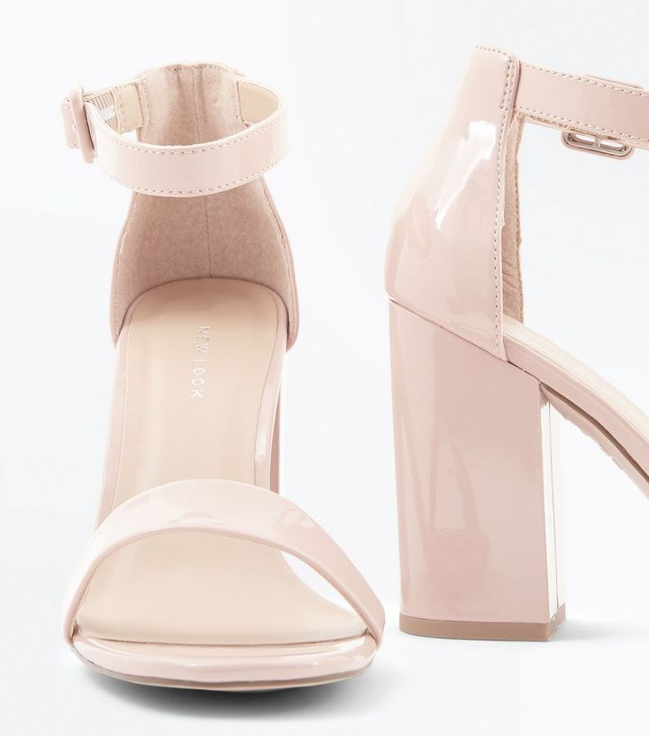 908db8460f9 Nude Patent Block Heel Sandals Add to Saved Items Remove from Saved Items