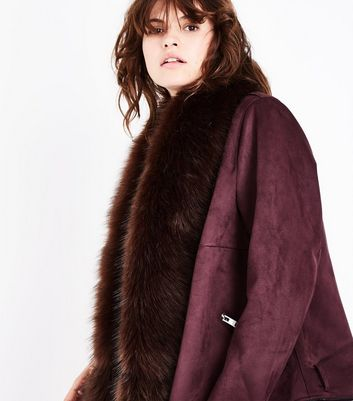 Brown Faux Fur Stole New Look