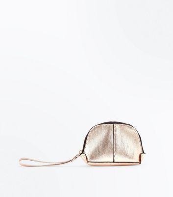 Gold Zip Around Purse New Look