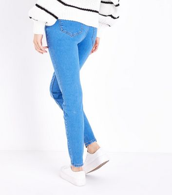Maternity Blue Over Bump Jeggings New Look