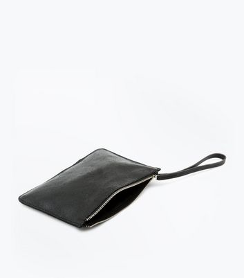 Black Leather Pouch New Look