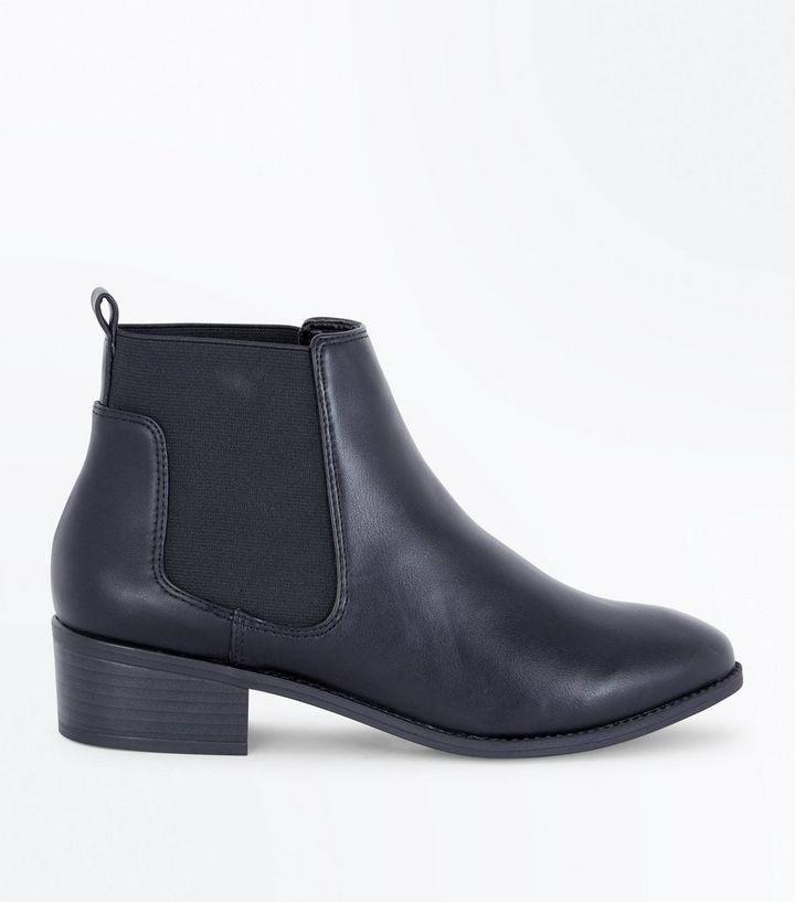afbe4afdffcbc7 Schwarze Chelsea-Stiefel mit niedrigem Blockabsatz