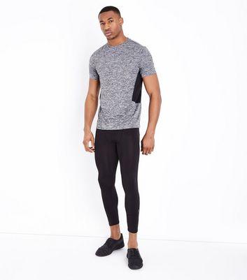 Dark Grey Mesh Trim Sports Top New Look
