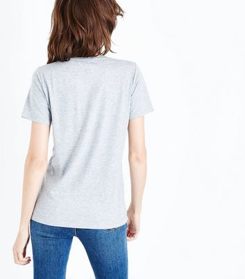 Grey Cherry Coke Print T-Shirt New Look