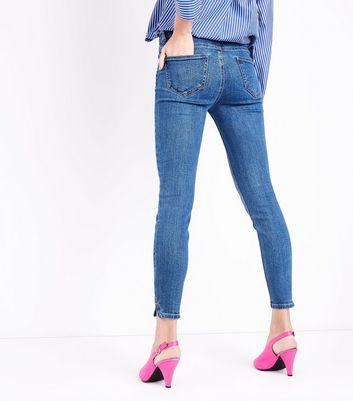 Blue Split Hem Skinny Jenna Jeans New Look