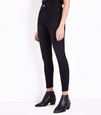 Black High Rise Skinny Jeans New Look