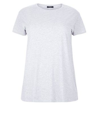Curves Grey Oversized T-Shirt New Look