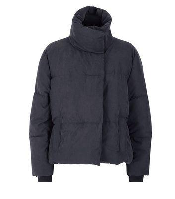 Black Boxy Puffer Jacket New Look