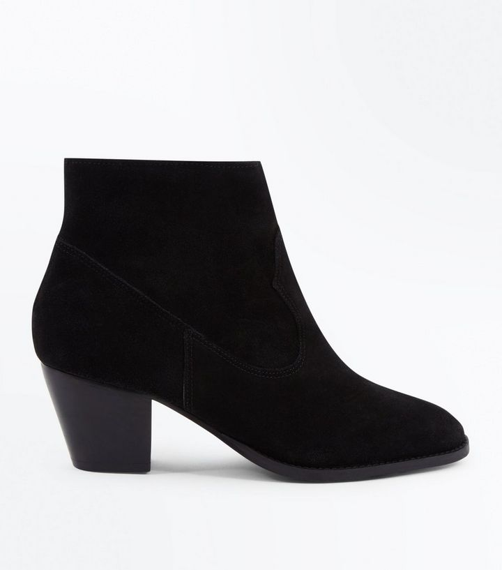 9659411b452 Black Suede Block Heel Western Boots Add to Saved Items Remove from Saved  Items
