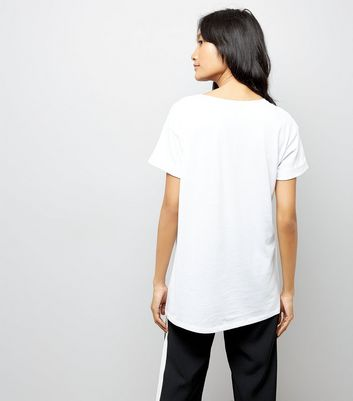 White Lobster Print Boyfriend T-Shirt New Look