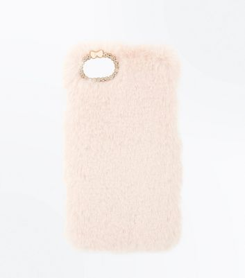 Pink Faux Fur Iphone Case New Look