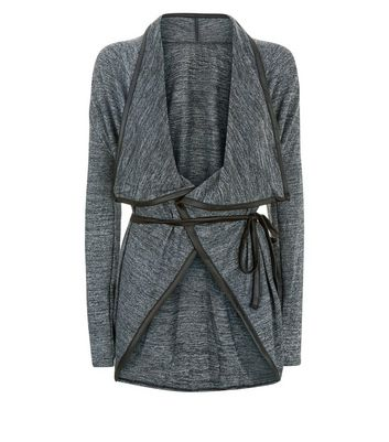 Mela Dark Grey Longline Cardigan New Look