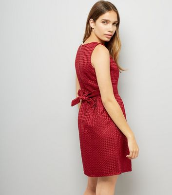 Mela Red Tulip Dress New Look