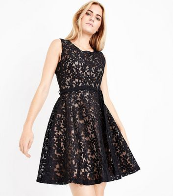 Mela Black Daisy Lace Dress New Look