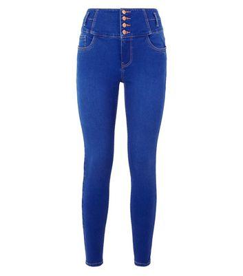 Bright Blue Rinse Wash High Waist Yazmin Jeans New Look