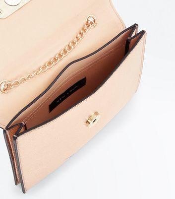 Rose Gold Chain Shoulder Bag New Look