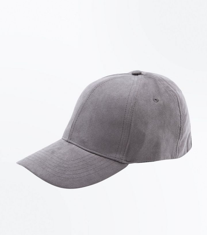 00ef529bce927d Grey Faux Suede Cap | New Look