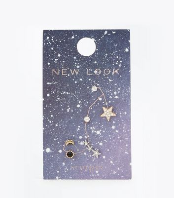 Gold Scorpio Zodiac Sign Earrings Pack New Look