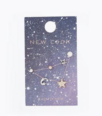 Gold Capricorn Zodiac Sign Earrings Pack New Look