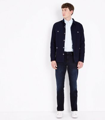 Navy Straight Jeans New Look