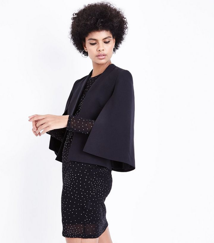b92ef2affe78 Blazer noir style cape