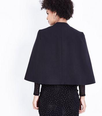 Black Cape Blazer New Look