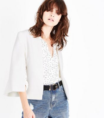 White Cape Blazer New Look