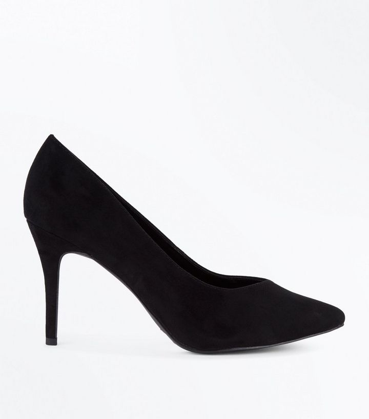 d825ae983ef Black Sweetheart Pointed Court Shoes