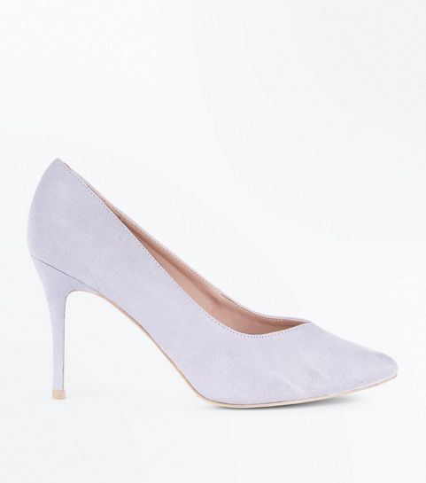 a5f5dc1f4345 ... Lilac Sweetheart Pointed Court Shoes ...